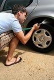 Man Washing Car Royalty Free Stock Photos