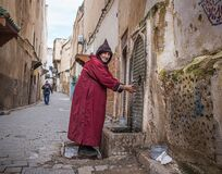 Man Washing Hands Fez Medina Morocco