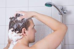 Free Man Washing His Hair In Shower Stock Photos - 29415183