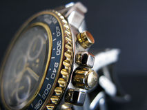 Man watch. Close-up with details of a man watch Stock Photo