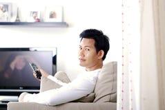 Free Man Watching Movies Stock Image - 2268691
