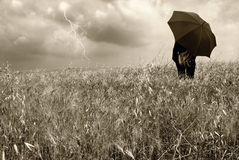 Man watching the storm royalty free stock photos