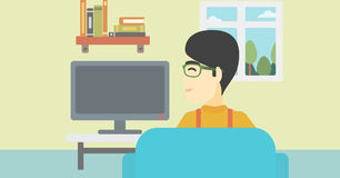 Man watching TV. Stock Images