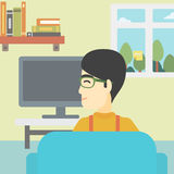 Man watching TV. Stock Photography