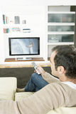 Man Watchint TV Royalty Free Stock Photo