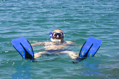 Man in the water Stock Photography