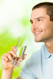 Man with water Royalty Free Stock Images
