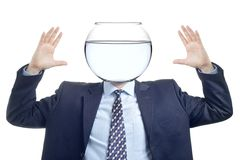 Man with a water bowl Royalty Free Stock Images