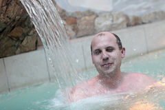 Man in the water park Royalty Free Stock Photos