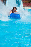 Man at water park Royalty Free Stock Photos
