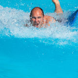 Man at water park Stock Image