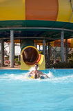 Man in the water park Stock Photo