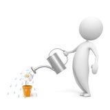 Man_watering Stock Image
