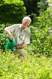 Man with a watering can Royalty Free Stock Photo