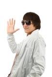 Man wave goodbye Stock Photos