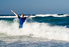 Man in waves Royalty Free Stock Images