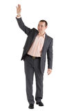 Man waves his hand Royalty Free Stock Image