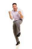 Man waving fists Stock Photos