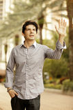Man waving Stock Photos