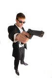 Man with  weapon Royalty Free Stock Photography