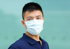 Man wear face mask Stock Photo