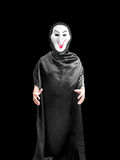 Man wear ghost costume isolated Stock Photography