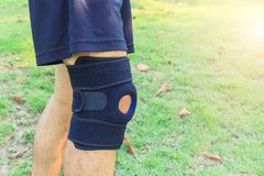 Knee Pads Hole Sports Royalty Free Stock Images