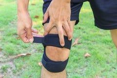 Brace Knee Pads Leg Stock Photo