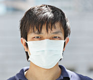 Man wear mask Stock Photos