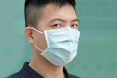 Man wear mask Stock Photo