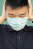 Man wear mask Royalty Free Stock Photo