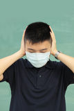 Man wear mask Stock Images