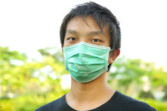 Man wear mask outdoor stock images