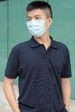 Man wear mask outdoor. Man wear mask at outdoor Stock Photos