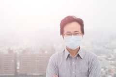 Man wear masks Royalty Free Stock Image