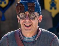 Man wear Medieval eye glasses Stock Photography