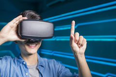 Man wear vr Stock Photography