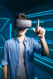 Man wear vr Stock Images