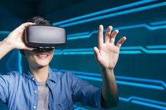 Man wear vr Royalty Free Stock Photography