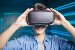 Man wear vr Royalty Free Stock Images