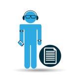 Man wearable tech file Stock Photos