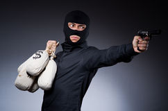 Man wearing balaclava Stock Image