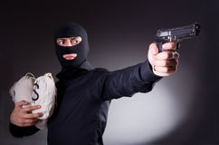 Man wearing balaclava Stock Images