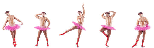 The man wearing ballet tutu Stock Photo
