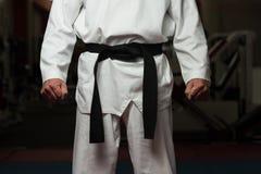 Man Wearing A Black Belt Royalty Free Stock Photos