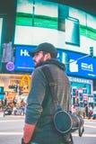 Man Wearing Black Cap Stock Photo