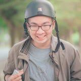Man Wearing Black Helmet royalty free stock photos