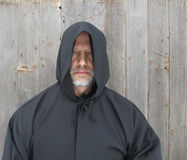 Man Wearing a Black Hooded Cape Stock Photos