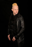 Man wearing black leather Stock Photos