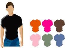 Man wearing black t-shirt royalty free illustration